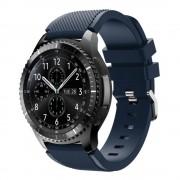 Samsung Gear 3 mørkeblå Sports silikone rem Leveso.dk Smartwatch tilbehør