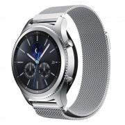til Samsung Gear S3 luksus Milanese urrem sølv Smartwatch tilbehør