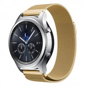 Samsung Gear S3 luksus Milanese urrem guld Leveso.dk Smartwatch tilbehør