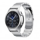 Samsung Gear S3 Luksus rustfri stål rem sølv Smartwatch tilbehør Leveso.dk