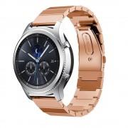 Samsung Gear S3 Luksus rustfri stål rem rosa guld Smartwatch tilbehør hos Leveso.dk