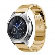 Samsung Gear S3 Luksus rustfri stål rem guld, køb Smartwatch tilbehør hos Leveso.dk