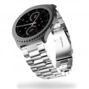 Til Samsung Gear S2 classic urrem rustfri stål sølv, Find Smartwatch tilbehør hos Leveso.dk