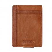 brun RFID safe læder kortholder m pengeclips Universal tilbehør