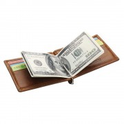 rfid læder kortholder med pengeclips brun Universal tilbehør