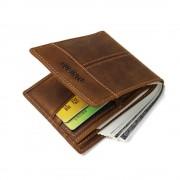 S-style læder tegnebog brun Universal tilbehør
