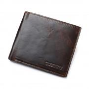 Viser Læder pung vintage RFID sikret mørkebrun