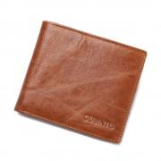 Viser Læder pung vintage RFID sikret brun