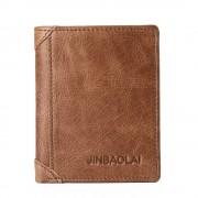 JINBAOLAI mini læder pung brun Universal tilbehør