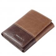 Bi-color læder tegnebog brun Universal tilbehør