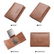 RFID sikret læder tegnebog brun Universal tilbehør