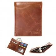 Rustik læder pung mørkebrun Universal tilbehør