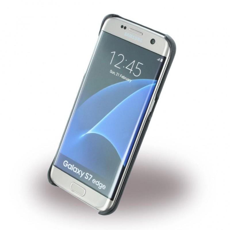 Topmoderne Bag cover BMW signature ægte læder til Galaxy S7 edge YD-78