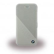 Iphone 6, 6S cover - etui BMW slanted i ægte læder beige Mobiltelefon tilbehør
