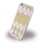 Iphone 6, 6S cover Guess 3D Aztec design lys pink Mobiltelefon tilbehør