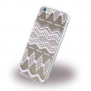 Iphone 6, 6S cover Guess 3D Aztec design taupe Mobiltelefon tilbehør