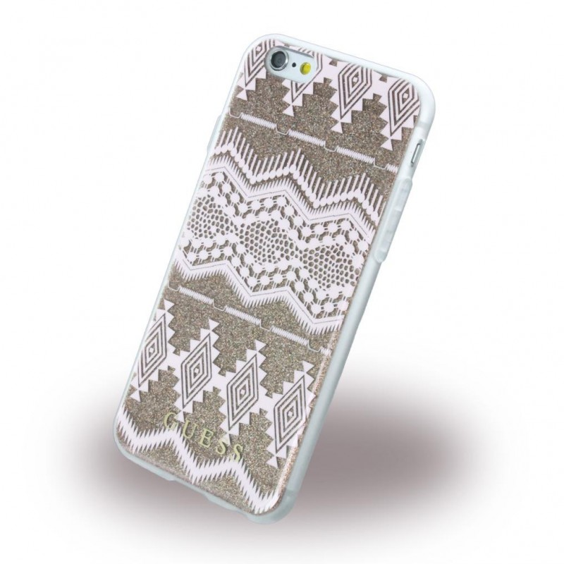separation shoes 86cd6 10a46 Iphone 6, 6S cover Guess 3D Aztec design taupe