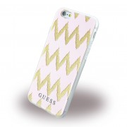 Iphone 6, 6S cover Guess 3D Stripes design pink Mobiltelefon tilbehør