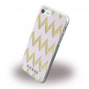 Til Iphone 7 bag cover Guess 3D Stripes design pink Mobiltelefon tilbehør