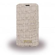 Samsung Galaxy S7 cover - etui Guess Shiny Croco beige Mobiltelefon tilbehør