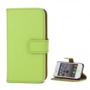Iphone 4S flip cover i ægte læder grøn Mobil tilbehør