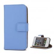 til Iphone 4S lyseblå flip cover i ægte læder Mobil tilbehør