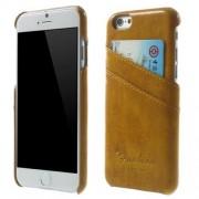 IPHONE 6 / 6S læder bag cover med kort lommer, brun Mobiltelefon tilbehør