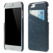 IPHONE 6 / 6S læder bag cover med kort lommer, blå Mobiltelefon tilbehør