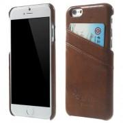 IPHONE 6 / 6S læder bag cover med kort lommer, moccabrun Mobiltelefon tilbehør