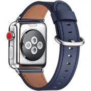 APPLE WATCH 38 MM urrem af Italiensk læder, mørkeblå Smartwatch tilbehør