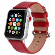 APPLE WATCH 38 MM læder urrem med montage beslag. Rød Smartwatch tilbehør