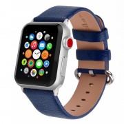 APPLE WATCH 38 MM læder urrem med montage beslag. Mørkeblå Smartwatch tilbehør