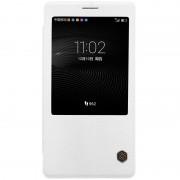 HUAWEI MATE 8 læder cover med vindue, hvid Mobiltelefon tilbehør