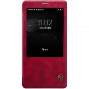 HUAWEI MATE 8 læder cover med vindue, rød Mobiltelefon tilbehør