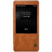 HUAWEI MATE 8 læder cover med vindue, brun Mobiltelefon tilbehør