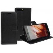 Huawei P10 læder flip cover med lommer sort Mobiltelefon tilbehør