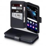 Huawei P10 premium cover i ægte læder sort, Huawei P10 covers og etuier