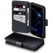 Huawei P10 Lite premium flip cover i ægte læder, Huawei covers og mobil tilbehør