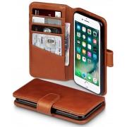 Iphone 7 klassisk flip cover brun i ægte læder Mobil tilbehør