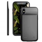 Batteri cover 3200 mAH Iphone X sort Mobil tilbehør