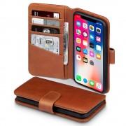 Flipcover ægte læder Iphone X brun Mobilcovers