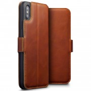 brun Slim læder etui Iphone Xs Max Mobil tilbehør
