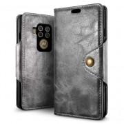 grå Retro flip etui Motorola One Zoom Mobil tilbehør