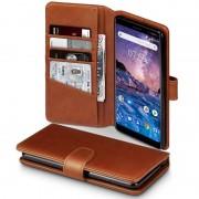 Læder flip etui Nokia 7 Plus brun Mobil tilbehør
