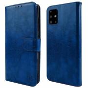 blå Retro flip etui Samsung A51 Mobil tilbehør