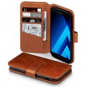Samsung Galaxy A5 2017 premium flip cover i ægte læder brun