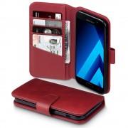Til Samsung Galaxy A5 2017 premium flip cover rød i ægte læder