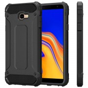 Viser Forcell armor case Galaxy J4+ (2018) sort