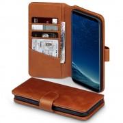 Til Samsung Galaxy S8 brun flip cover i ægte læder, Galaxy S8 covers