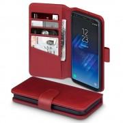 Samsung Galaxy S8 flip cover i ægte læder rød, Galaxy S8 covers
